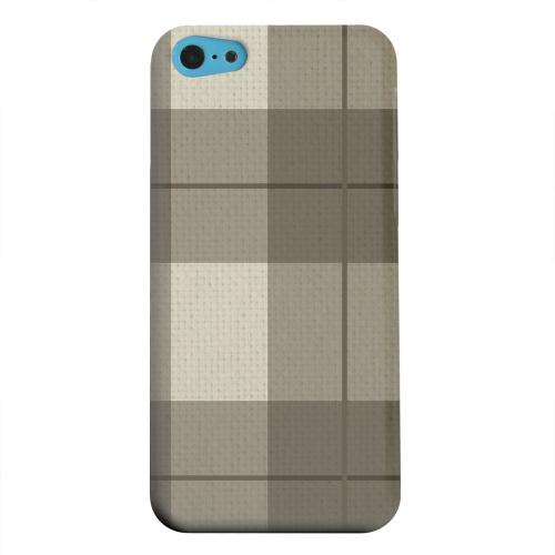 Geeks Designer Line (GDL) Apple iPhone 5C Matte Hard Back Cover - Off-Centered Zoom Brown Plaid
