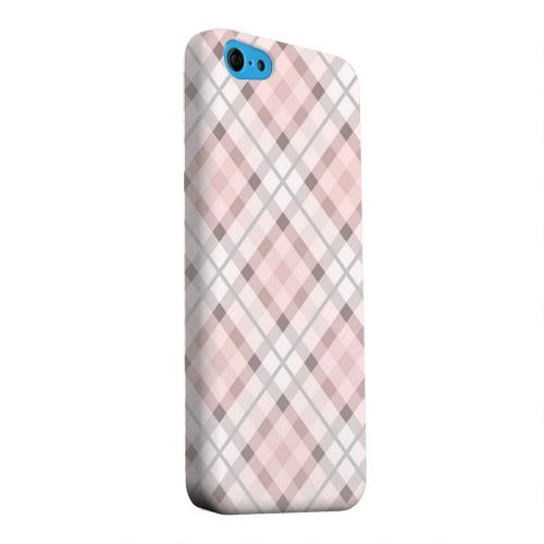 Geeks Designer Line (GDL) Apple iPhone 5C Matte Hard Back Cover - Pink/ Gray Plaid