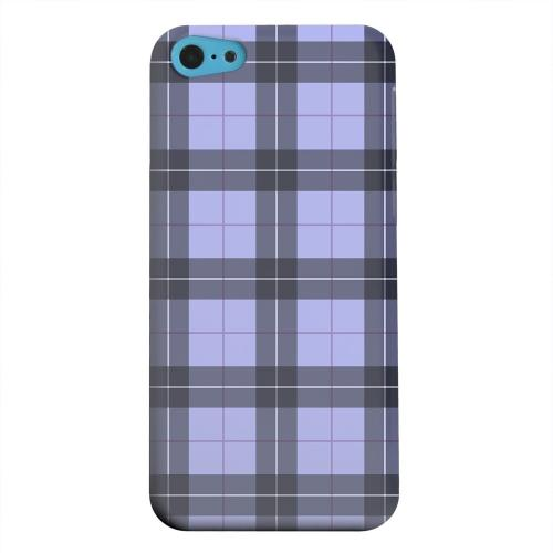Geeks Designer Line (GDL) Apple iPhone 5C Matte Hard Back Cover - Scottish-Like Plaid in Purple