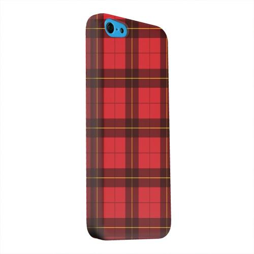 Geeks Designer Line (GDL) Apple iPhone 5C Matte Hard Back Cover - Scottish-Like Plaid in Red