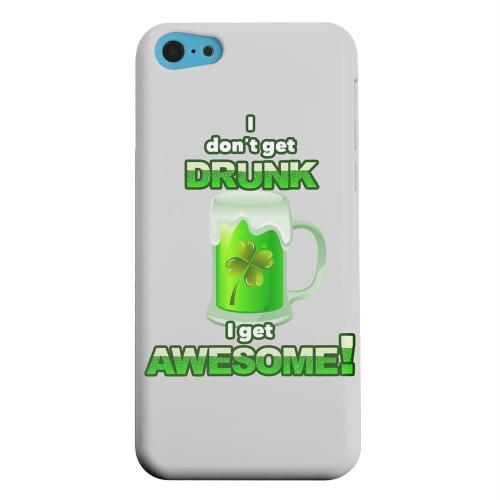 Geeks Designer Line (GDL) Apple iPhone 5C Matte Hard Back Cover - I Get Awesome