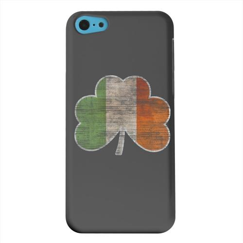 Geeks Designer Line (GDL) Apple iPhone 5C Matte Hard Back Cover - Irish Clover Flag