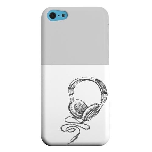 Geeks Designer Line (GDL) Apple iPhone 5C Matte Hard Back Cover - Head Bobbing Gray