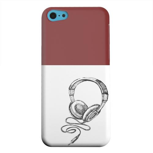 Geeks Designer Line (GDL) Apple iPhone 5C Matte Hard Back Cover - Head Bobbing Maroon
