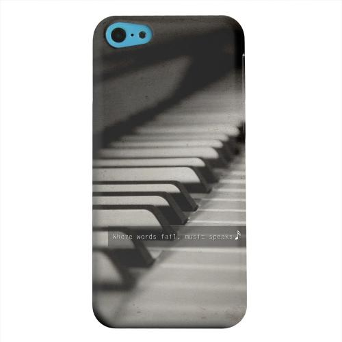 Geeks Designer Line (GDL) Apple iPhone 5C Matte Hard Back Cover - Music Speaks