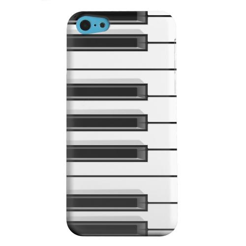 Geeks Designer Line (GDL) Apple iPhone 5C Matte Hard Back Cover - Piano Keys