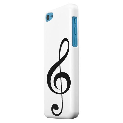 Geeks Designer Line (GDL) Apple iPhone 5C Matte Hard Back Cover - Simple Treble Clef