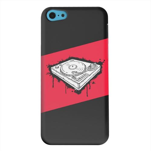 Geeks Designer Line (GDL) Apple iPhone 5C Matte Hard Back Cover - Wheel of Steel Red