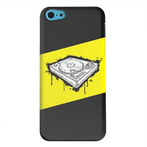 Geeks Designer Line (GDL) Apple iPhone 5C Matte Hard Back Cover - Wheel of Steel Yellow