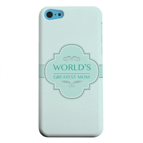 Geeks Designer Line (GDL) Apple iPhone 5C Matte Hard Back Cover - Vintage World's Greatest Mom
