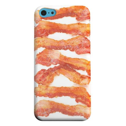 Geeks Designer Line (GDL) Apple iPhone 5C Matte Hard Back Cover - Bacon Goes Good
