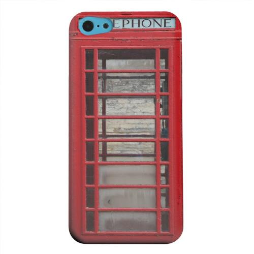 Geeks Designer Line (GDL) Apple iPhone 5C Matte Hard Back Cover - English Telephone Booth