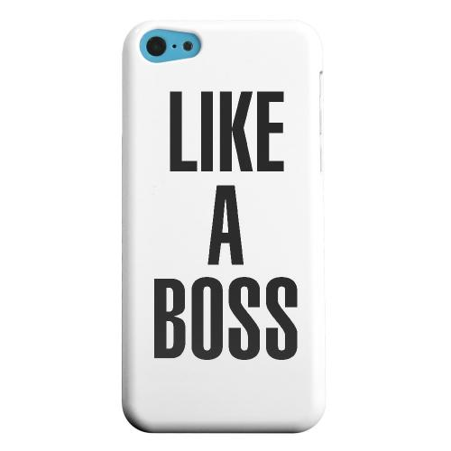 Geeks Designer Line (GDL) Apple iPhone 5C Matte Hard Back Cover - Like A Boss