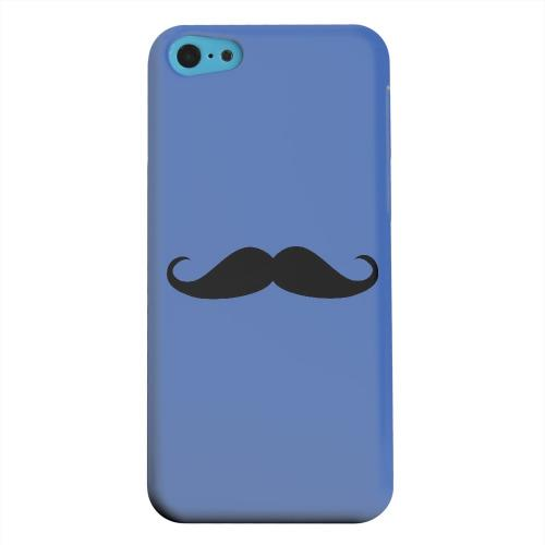 Geeks Designer Line (GDL) Apple iPhone 5C Matte Hard Back Cover - Mustache Blue