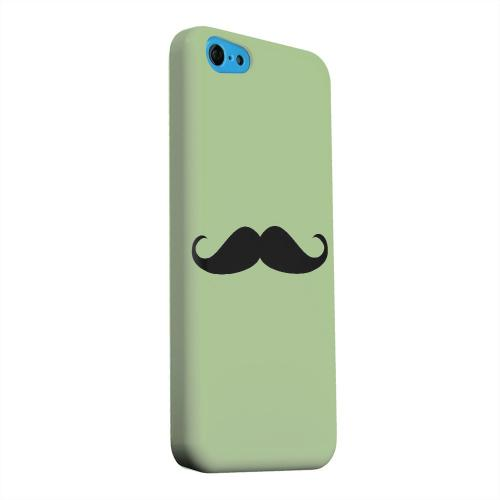 Geeks Designer Line (GDL) Apple iPhone 5C Matte Hard Back Cover - Mustache Greenish