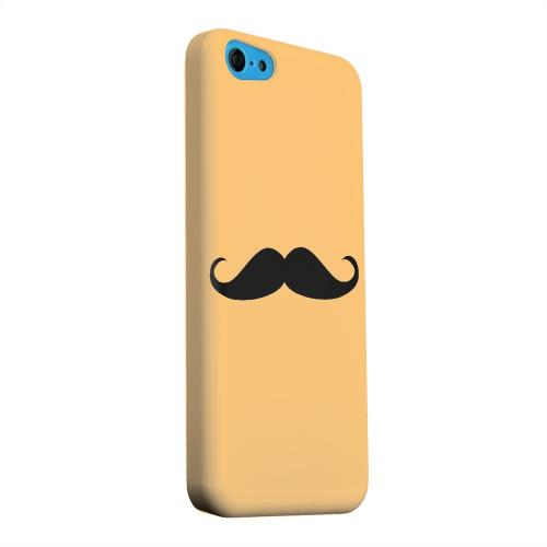 Geeks Designer Line (GDL) Apple iPhone 5C Matte Hard Back Cover - Mustache Orange