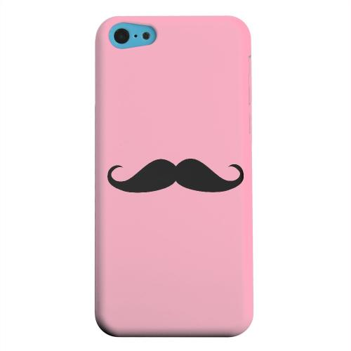 Geeks Designer Line (GDL) Apple iPhone 5C Matte Hard Back Cover - Mustache Pink
