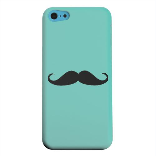 Geeks Designer Line (GDL) Apple iPhone 5C Matte Hard Back Cover - Mustache Teal