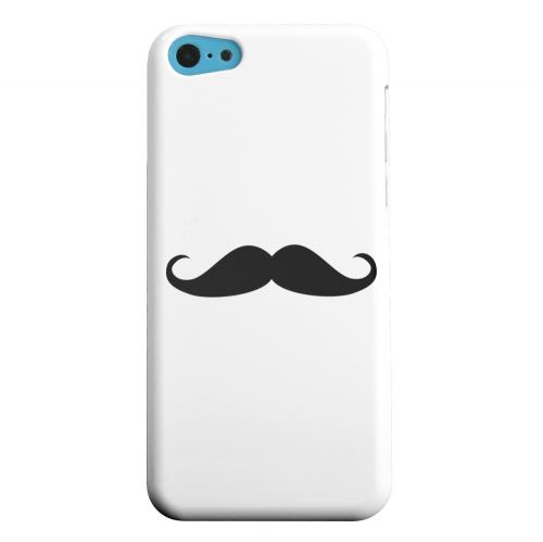 Geeks Designer Line (GDL) Apple iPhone 5C Matte Hard Back Cover - Mustache White