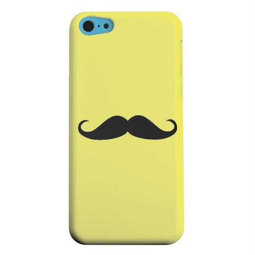 Geeks Designer Line (GDL) Apple iPhone 5C Matte Hard Back Cover - Mustache Yellow