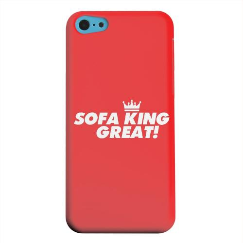 Geeks Designer Line (GDL) Apple iPhone 5C Matte Hard Back Cover - Sofa King Great