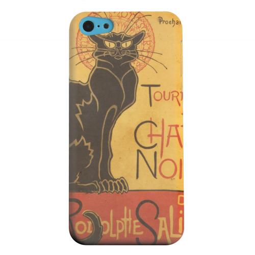 Geeks Designer Line (GDL) Apple iPhone 5C Matte Hard Back Cover - Le Chat Noir by Thophile-Alexandre Steinlen