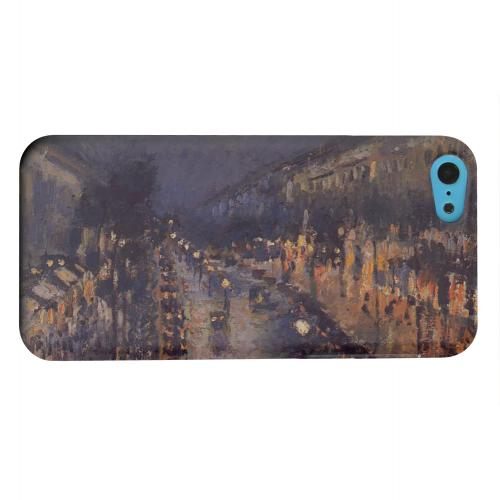 Geeks Designer Line (GDL) Apple iPhone 5C Matte Hard Back Cover - Boulevard Montmarte at Night by Camille Pisarro