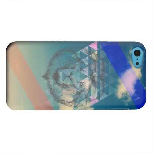 Geeks Designer Line (GDL) Apple iPhone 5C Matte Hard Back Cover - Majestic Lion in the Sky