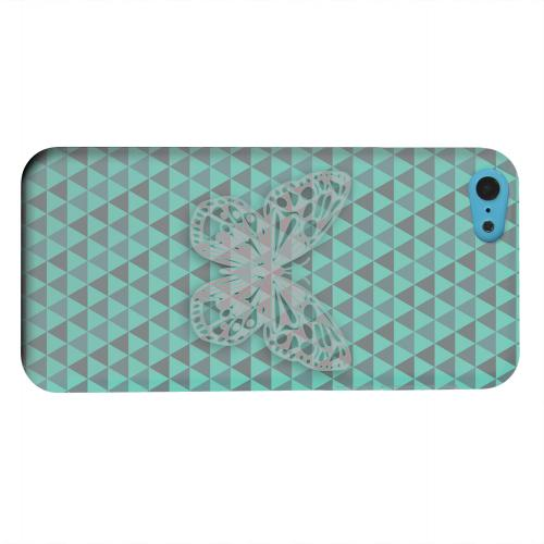 Geeks Designer Line (GDL) Apple iPhone 5C Matte Hard Back Cover - Butterfly Crypsis