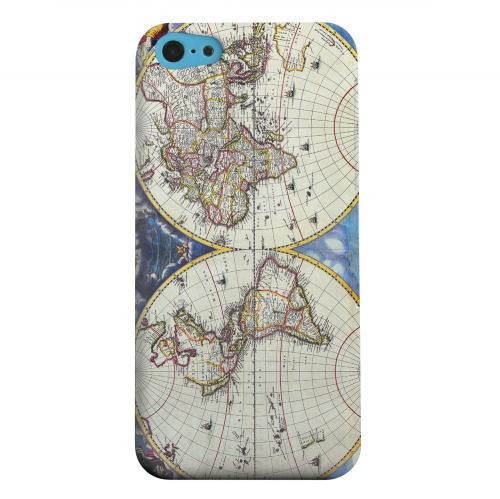 Geeks Designer Line (GDL) Apple iPhone 5C Matte Hard Back Cover - Terrarum Orbis Tabula Pictomap