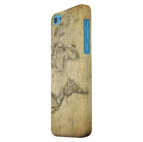 Geeks Designer Line (GDL) Apple iPhone 5C Matte Hard Back Cover - Vintage World Map Circa 1800's