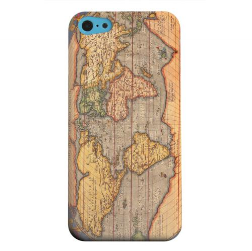 Geeks Designer Line (GDL) Apple iPhone 5C Matte Hard Back Cover - Ortelius World Map 1601