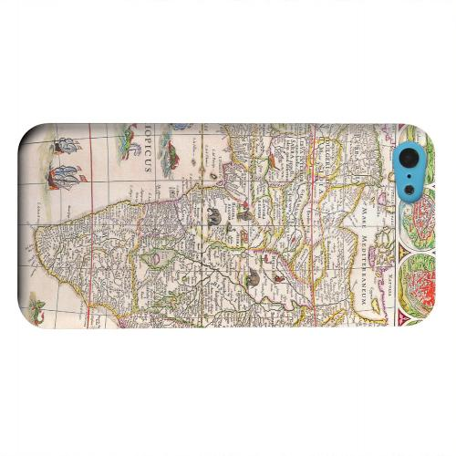 Geeks Designer Line (GDL) Apple iPhone 5C Matte Hard Back Cover - Map of Africae