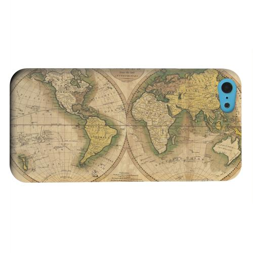 Geeks Designer Line (GDL) Apple iPhone 5C Matte Hard Back Cover - Map of the World Circa 1770's