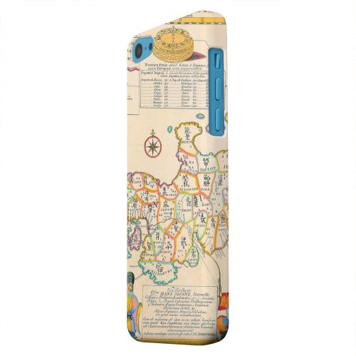 Geeks Designer Line (GDL) Apple iPhone 5C Matte Hard Back Cover - Old Japanese Empire Map