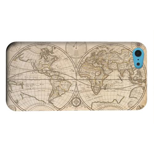 Geeks Designer Line (GDL) Apple iPhone 5C Matte Hard Back Cover - Carte Generale du Monde 1676