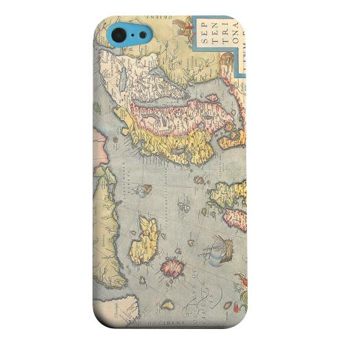 Geeks Designer Line (GDL) Apple iPhone 5C Matte Hard Back Cover - Ancient Map of Europe
