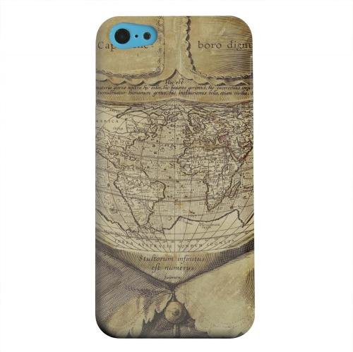 Geeks Designer Line (GDL) Apple iPhone 5C Matte Hard Back Cover - Ancient Map Head