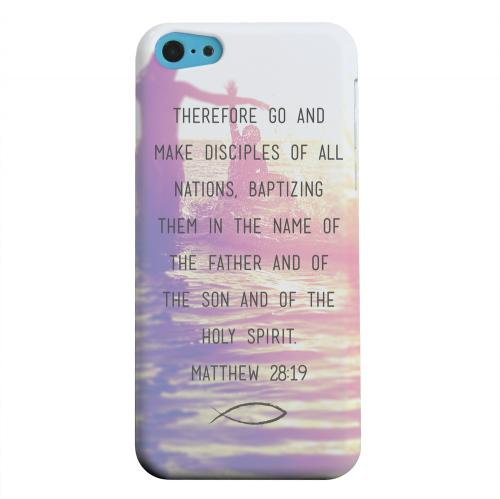 Geeks Designer Line (GDL) Apple iPhone 5C Matte Hard Back Cover - Matthew 28:19