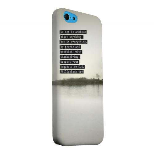Geeks Designer Line (GDL) Apple iPhone 5C Matte Hard Back Cover - Philippians 4:6