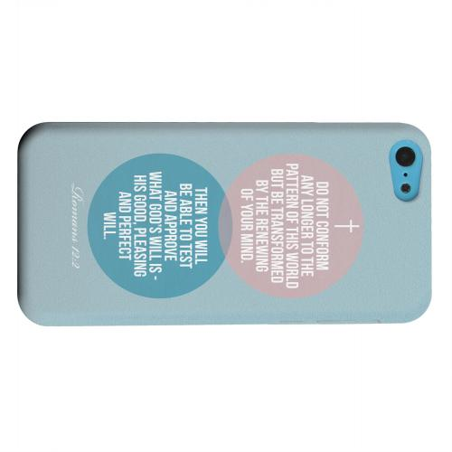 Geeks Designer Line (GDL) Apple iPhone 5C Matte Hard Back Cover - Romans 12:2