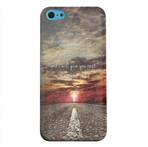 Geeks Designer Line (GDL) Apple iPhone 5C Matte Hard Back Cover - Matthew 11:28