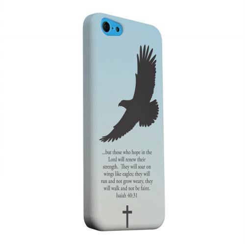 Geeks Designer Line (GDL) Apple iPhone 5C Matte Hard Back Cover - Isaiah 40:31 - Faint Blue