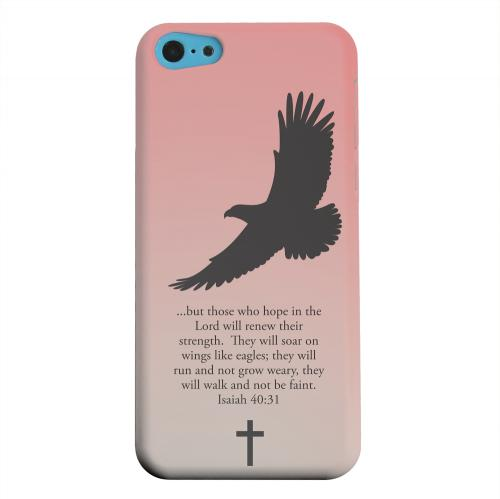Geeks Designer Line (GDL) Apple iPhone 5C Matte Hard Back Cover - Isaiah 40:31 - Wisp Pink