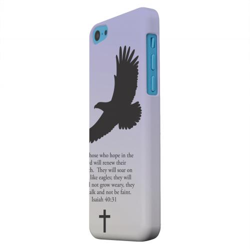 Geeks Designer Line (GDL) Apple iPhone 5C Matte Hard Back Cover - Isaiah 40:31 - Sleepy Grape