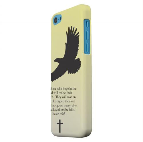 Geeks Designer Line (GDL) Apple iPhone 5C Matte Hard Back Cover - Isaiah 40:31 - Sunset Yellow