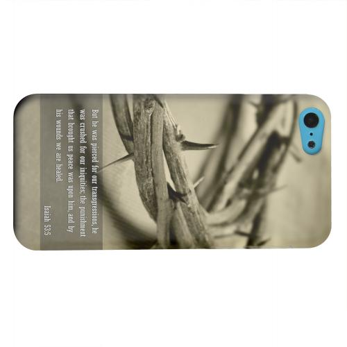 Geeks Designer Line (GDL) Apple iPhone 5C Matte Hard Back Cover - Isaiah 53:5