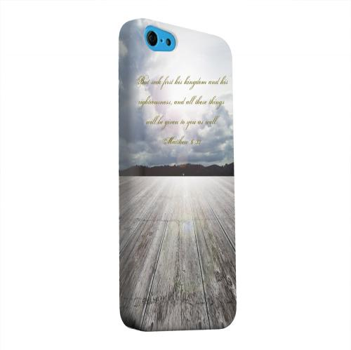 Geeks Designer Line (GDL) Apple iPhone 5C Matte Hard Back Cover - Matthew 6:33