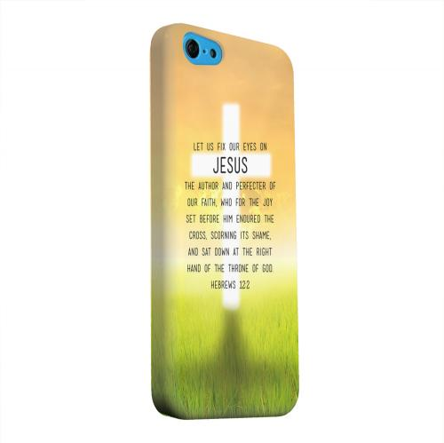 Geeks Designer Line (GDL) Apple iPhone 5C Matte Hard Back Cover - Hebrews 12:2