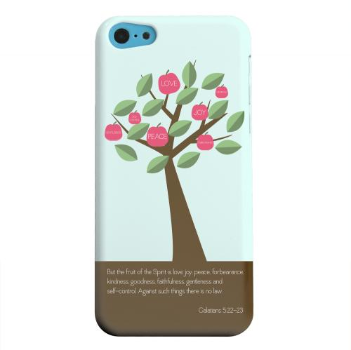 Geeks Designer Line (GDL) Apple iPhone 5C Matte Hard Back Cover - Galatians 5:22-23
